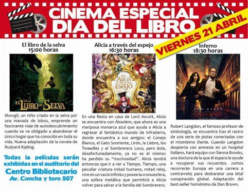 Cine: Especial día del libro