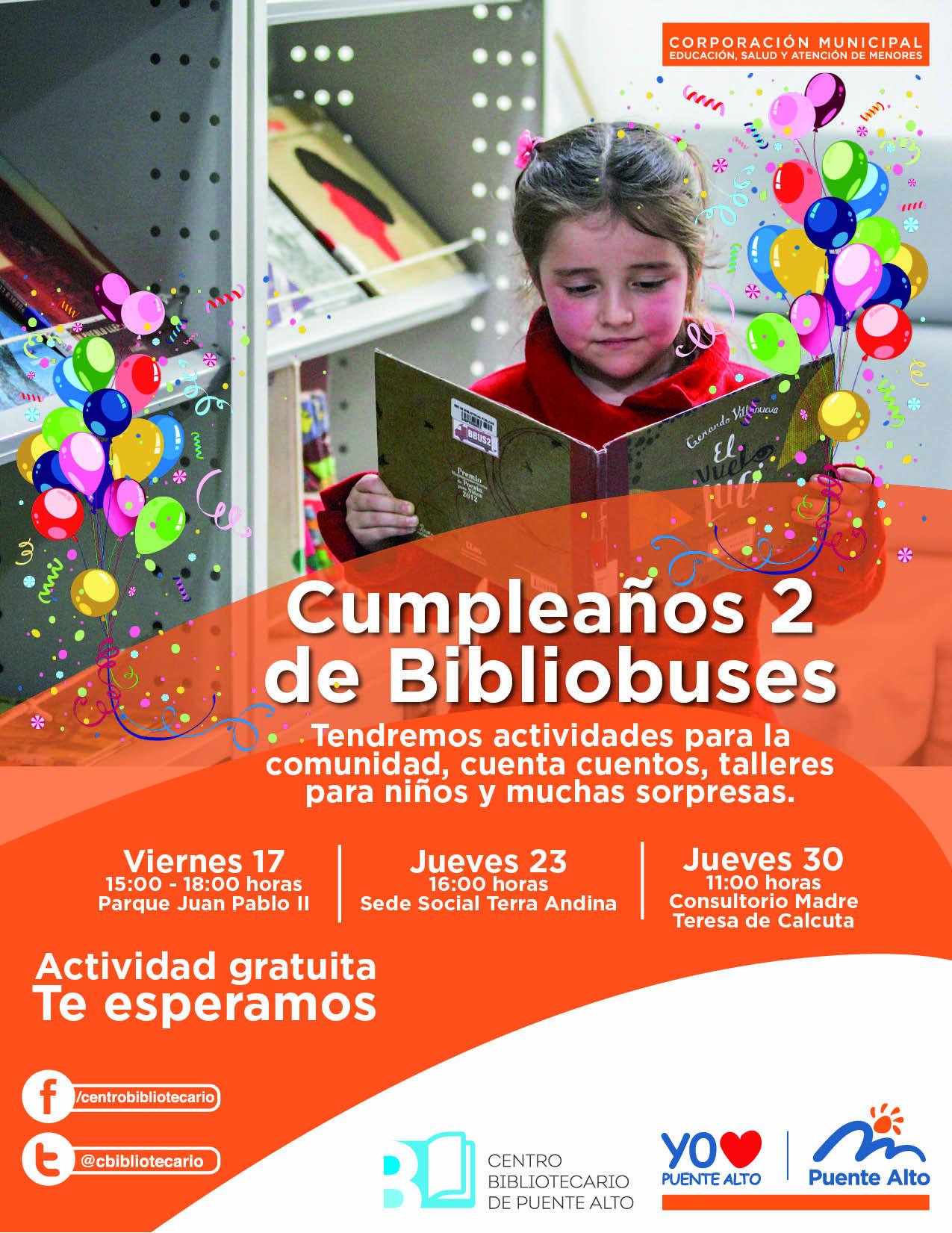 Cumpleaños de Bibliobuses