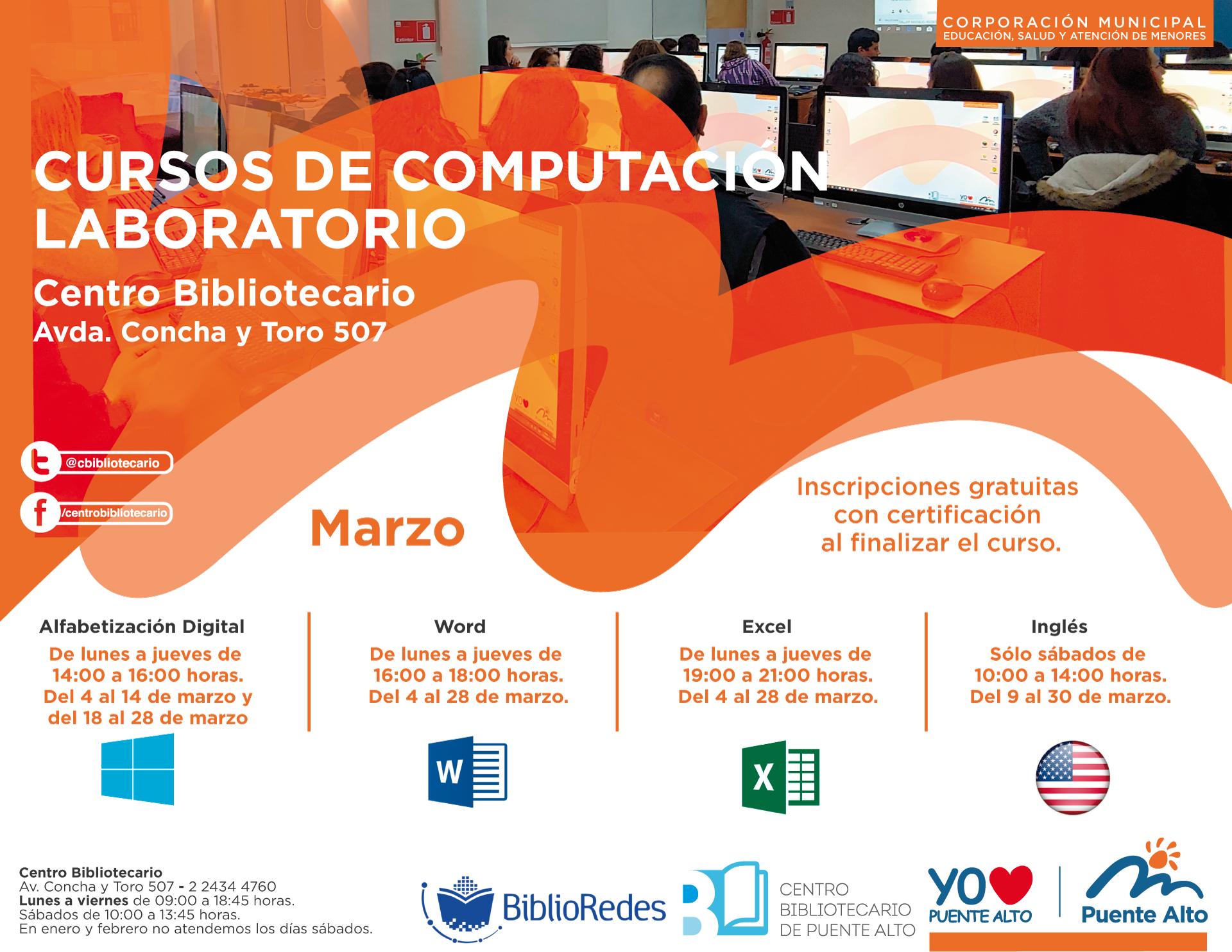 Cursos de Computación Laboratorio Marzo| Biblioteca Central