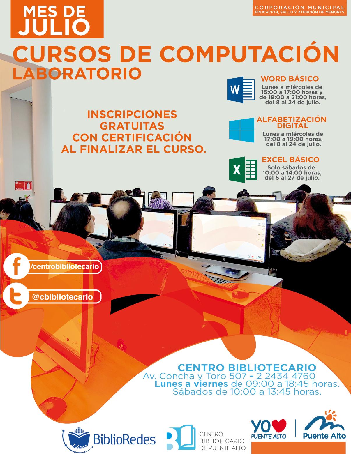 Cursos de Computación Laboratorio Julio | Biblioteca Central
