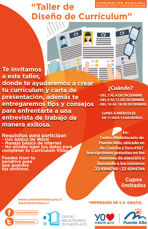 "Taller de ""Diseño de Currículum"", Biblioteca Central"