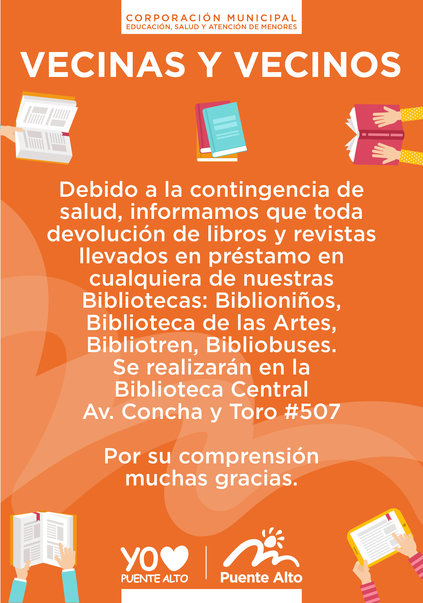 Devolución de libros y revistas