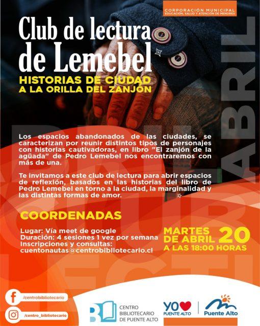 """Club de lectura de Lemebel """"Historias de ciudad a la orilla del zanjón"""""""