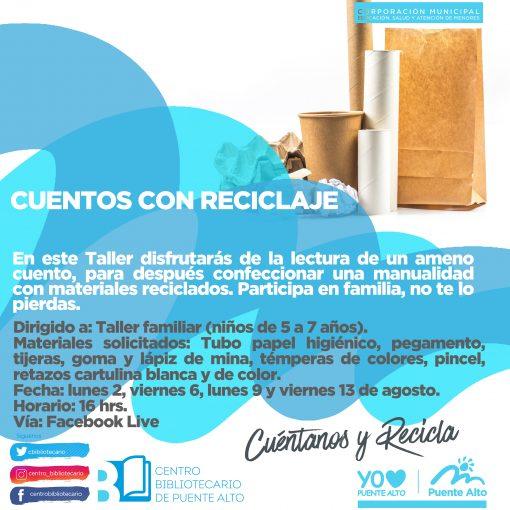 Taller | Cuentos con reciclaje.