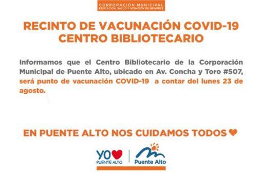CENTRO BIBLIOTECARIO  Recinto de vacunación contra COVID-19